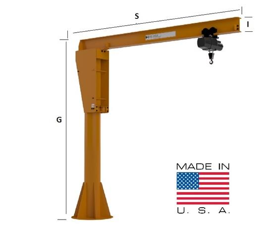 HEAVY DUTY PILLAR BASE MOUNTED JIB CRANE