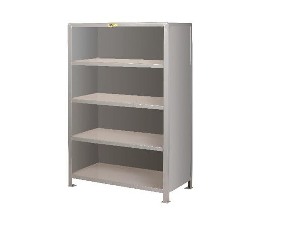 ALL-WELDED HEAVY-DUTY STEEL CLOSED SHELVING
